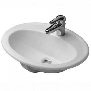 Duravit - Duraplus Drop-In Basin 560 x 455mm White Alpin