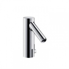 Starck Electronic Basin Mixer with Temperature Control & Mains Connection Chrome