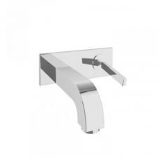Citterio Wall-Mounted Single Lever Basin Mixer with Spout 165mm Chrome