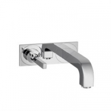 Citterio Wall-Mounted Single Lever Basin Mixer with Spout 225mm & Plate Chrome