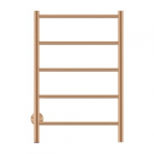 Bathroom Butler - Natural Straight Heated Towel Rail 5 Bar PTS Brushed Bronze