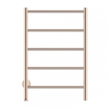 Bathroom Butler - Natural Straight Heated Towel Rail 5 Bar PTS Rose Gold