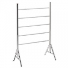 Bathroom Butler - Natural F/Standing Heated Towel Rail 5 Bar Chrome