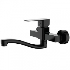 Sterlyn Single Lever Wall-Type Sink Mixer Double Black - Meissen