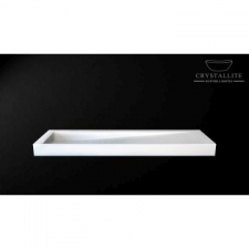 Crystallite - D Cline 1.6m Countertop/Wall-Mounted Basin 1600x450x105mm Luxury White