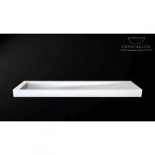 Crystallite - D Cline 1.8m Countertop/Wall-Mounted Basin 1800x450x105mm Luxury White