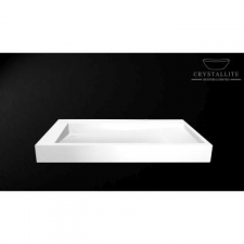 Crystallite - D Cline 1.0m Countertop/Wall-Mounted Basin 1000x460x105mm Luxury White