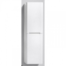 AVA Bathroom Furniture - Venice Large Side Cabinet Wall-Hung Two Doors 350x300x1500mm White Gloss