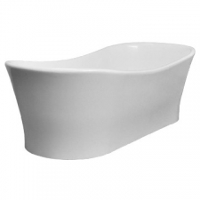 DADO - Elegance Slipper Freestanding Bath no Overflow 1770x780x575/520mm Gloss White