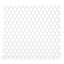 Douglas Jones - Penny Round Ceramic Mosaic Sheet 315x294x6mm Matt White