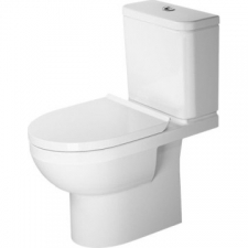 Duravit - DuraStyle Basic Toilet Close-Coupled Rimless 365x655mm White Alpin