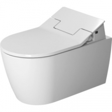 Duravit - ME by Starck Rimless Wall Mount Pan 370x570mm Durafix w/WonderGliss White Alpin