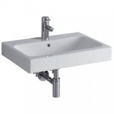 Geberit Icon Vanity Basin with Centre Tap Hole 600mm x 485mm White - Geberit