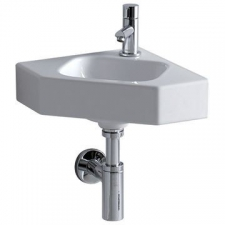 Geberit Icon Wall-Hung Corner Basin Small 460mm x 330mm White - Geberit