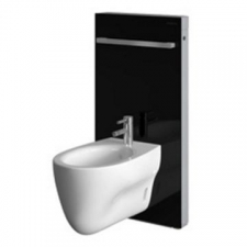 Monolith for Bidet 101cm Black Glass - Geberit