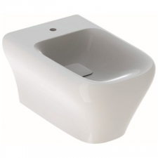 Myday Wall-Hung Bidet, Shrouded: T=54cm Overflow=Without, Keratect/White - Geberit