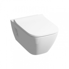 Geberit Smyle Square Rimfree Wall-Hung Pan with Opening for Wall Mounting White - Geberit