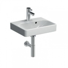 Geberit Smyle Square Vanity Basin with Centre Tap Hole 450mm x 360mm White - Geberit