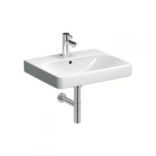 Geberit Smyle Square Vanity Basin with Centre Tap Hole 600mm x 480mm White - Geberit