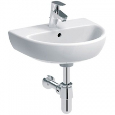 Selnova Wall-Hung Basin with Centre Tap Hole 500mm x 410mm White - Geberit