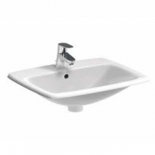 Selnova Square Drop-In Basin with Centre Tap Hole 550mm x 450mm White - Geberit