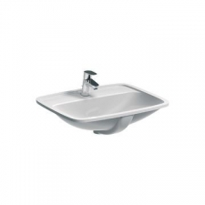 Selnova Square Underslung Basin with Centre Tap Hole 600mm x 500mm White - Geberit