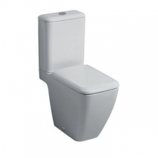 Icon Square Floorstanding Pan for Close-Coupled Exposed Cistern White - Geberit