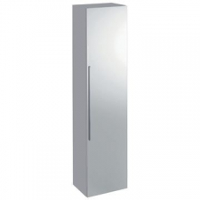 Icon Tall Wall-Hung Cabinet with One Door & External Mirror 360x1500mm White - Geberit