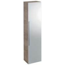 Icon Tall Wall-Hung Cabinet w/ One Door & External Mirror 360x1500mm Oak Nature - Geberit