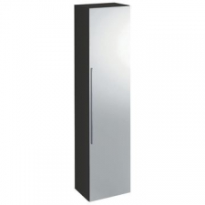 Icon Tall Wall-Hung Cabinet with One Door & External Mirror 360x1500mm Lava - Geberit