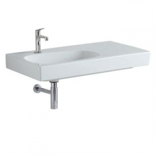 Geberit Citterio Vanity Basin with Right Shelf Surface B 900mm x 500mm White - Geberit