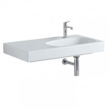 Geberit Citterio Vanity Basin with Left Shelf Surface B 900mm x 500mm White - Geberit