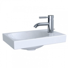 Acanto Handrinse Basin Right Tap Hole w/o Overflow 400x115mm White - Geberit