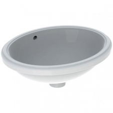 Variform Underslung Basin Oval with Overflow 480x181x390mm White - Geberit