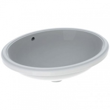 Variform Underslung Basin Oval with Overflow 560x181x460mm White - Geberit