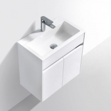 Simplicity 550 Wall-Hung Vanity 550 x 310mm White - Gio