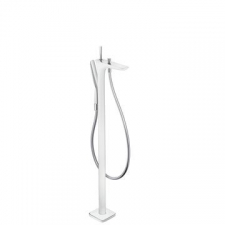 HG Puravida Bath Mixer Free Standing White/Chrome
