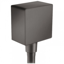 FixFit Square Wall Outlet with Non-Return Valve 15mm Brushed Black Chrome