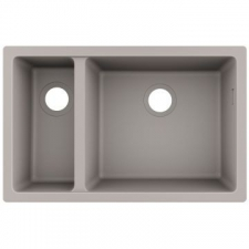 S510-U635 Under-Mount Sink 180 x 450 BG Granite 710 x 450mm Concrete Grey
