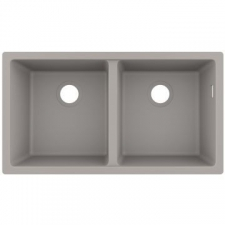 S510-U770 Under-Mount Sink 370 x 370 BG Granite 820 x 450mm Concrete Grey