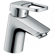 HG Logis Loop Single Lever Basin Mixer 70 with Pop-Up Waste Chrome