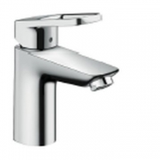 HG Logis Loop Single Lever Basin Mixer 100 with Pop-Up Waste Chrome