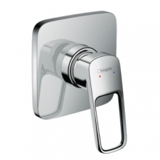 Logis Loop Single Lever Bath/Shower Mixer for Concealed Installation Chrome