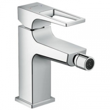 Hansgrohe - Metropol Loop / 74520000 / Chrome - Single Lever 1-Hole Bidet Mixer with Push-Open ( Clicker Waste ) Set