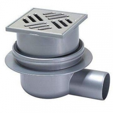 Kessel - Classic Bathroom Drain in ABS w/ Removable Trap & Lip Seal & Slotted Cover