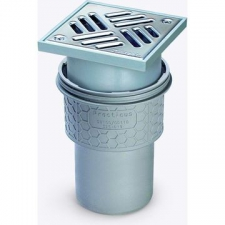 Kessel - KESSEL Floor Drain with Removable Odor Trap Stainless Steel