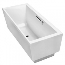 Evok Freestanding Acrylic Bubblemassage Bathtub 1675 x 762 x 610mm White