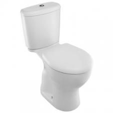 Brive Plus Two-Piece Toilet With Quiet-Close Seat Cover P-Trap 180mm White