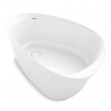 Veil Bath Tub Freestanding Lithocast White