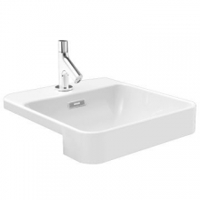 Kohler - ForeFront Semi-Recessed Basin With Single Mixer Hole Square 420 x 460mm White